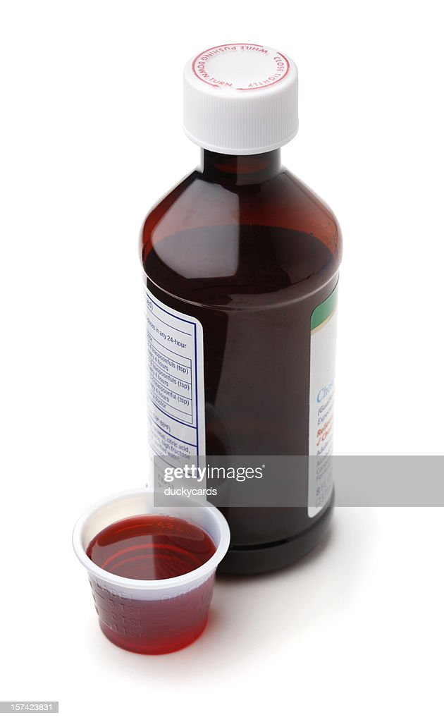 Cough Syrup or Cold Medicine : Stock Photo