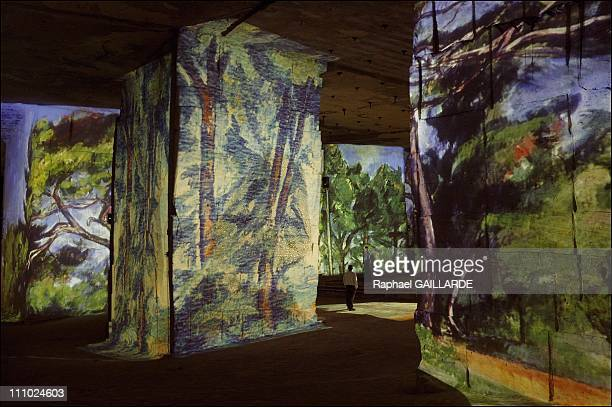 Couleurs Cezanne show at the Cathedrale d'Images On the occasion of the centenary of Paul Cezanne Cathedrale d'Images Gianfranco Iannuzzi and Renato...