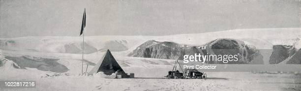 Couloir Cliffs Granite Harbour Showing the Camp Off the Piedmont Tongue' circa 1911 The final expedition of British Antarctic explorer Captain Robert...