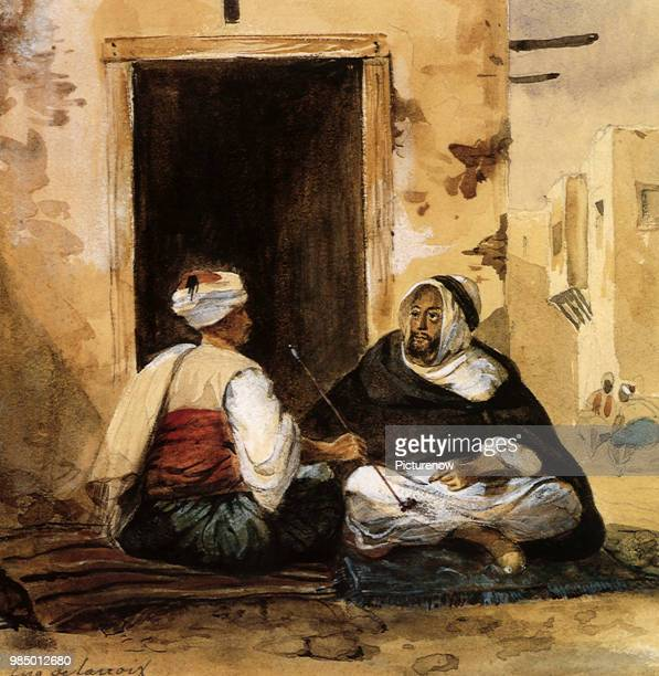 Coulouglis and an Arab, Delacroix, Eugene.