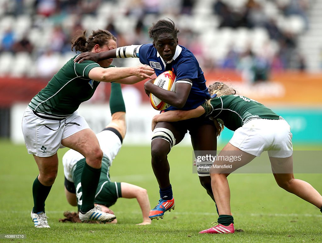 Ireland v France - 3rd/4th Place Playoff IRB Women's Rugby World Cup 2014 : News Photo