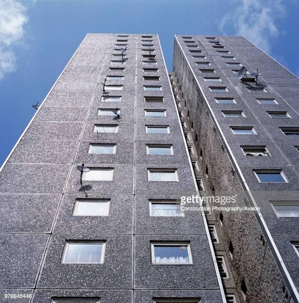 Council block Islington London low angle
