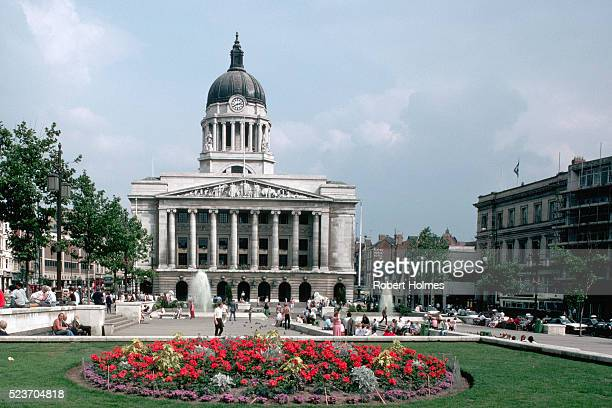 council house and square in nottingham - nottingham stock pictures, royalty-free photos & images