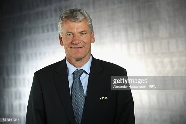 Council member David Gill poses during a Portrait session at the FIFA headquaters on October 14 2016 in Zurich Switzerland