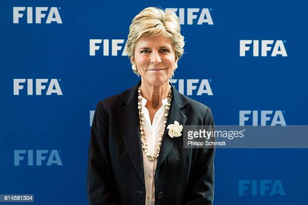 Council member Evelina Christillin poses for a photo after part II of the FIFA Council Meeting 2016 at the FIFA headquarters on October 14 2016 in...
