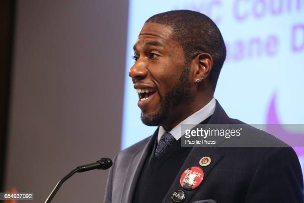 NYC council member Jumaane Williams speaks NY City Council Members Jumaane Williams Laurie Cumbo presided over an evening of Shirley Chisholm Women...