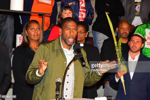 Council Member Jumaane Williams speaks out passionately during Brooklyn Borough President Eric Adams brought political and religious leaders together...