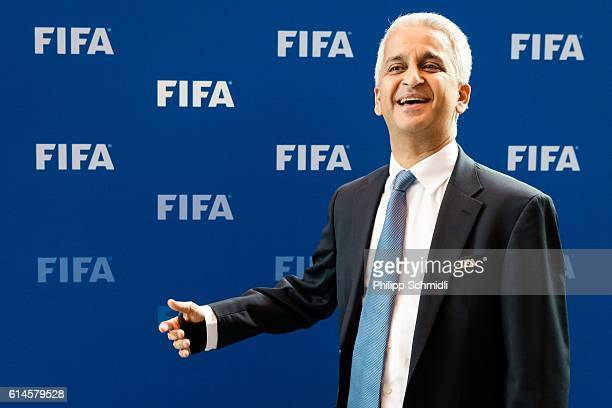 Council member Sunil Gulati poses for a photo after part II of the FIFA Council Meeting 2016 at the FIFA headquarters on October 14 2016 in Zurich...