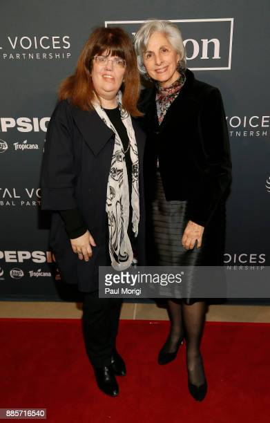 Council Members Barbara Zuckerberg and Dina Zuckerberg attend Vital Voices Global Partnership 2017 Voices Against Solidarity Awards at IAC HQ on...
