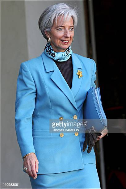 Council Minister in Paris, France on November 02nd, 2006 - Christine Lagarde, Minister Delegate for Foreign Trade.