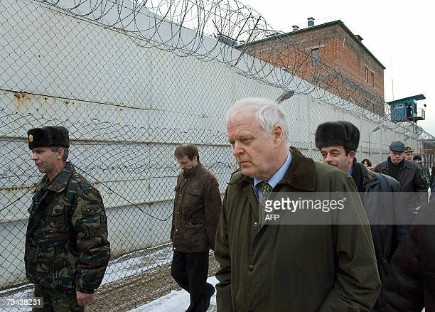 Council of Europe Commissioner for Human Rights Thomas Hammarberg visits a prison in Grozny, 27 February 2007. Hammarberg is on his first trip to the...