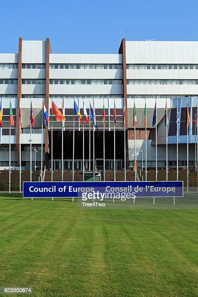 council of europe in strasbourg, seat of the european parliament - council of europe stock pictures, royalty-free photos & images