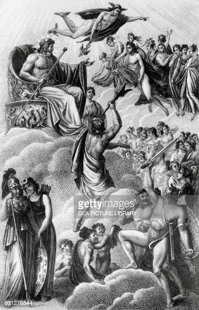 Council of the Gods engraving by Giovanni Antonio Sasso from a painting by Luigi Ademollo