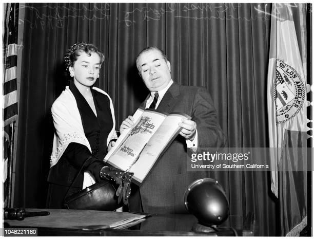 Council proclamation 19 March 1952 Miss Dawn AddamsEd J Davenport