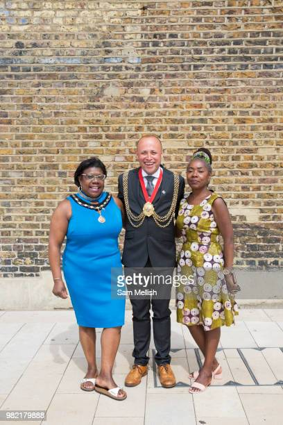 Councillor Christopher Wellbelove Mayor of Lambeth with Emita Griffith Cllr Sonia Winifred Cabinet Member for Equalities and Culture during the...