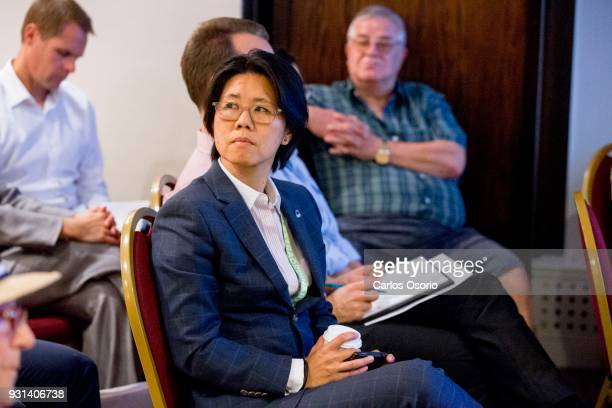 TORONTO ON SEPTEMBER Councillor for Toronto Centre Rosedale Kristyn WongTam listens during the meeting A community meeting on the development...
