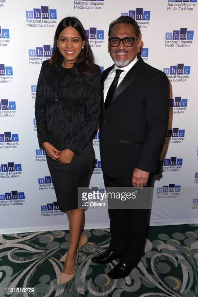 Councilman Gil Cedillo and a guest attend the 22nd Annual National Hispanic Media Coalition Impact Awards Gala at Regent Beverly Wilshire Hotel on...