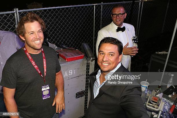 Councilman Skylar Peak Councilman Jose Huizar and David Bernahl attend the 5th Annual Los Angeles Food Wine Festival on August 27 2015 in Los Angeles...