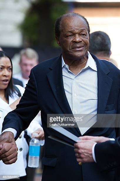 Councilmember Marion Barry attends the Trump International Hotel Washington, D.C Groundbreaking Ceremony on July 23, 2014 in Washington, DC.