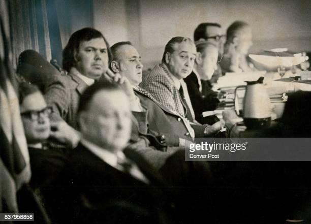 Councilmen Listen To Presentation Councilmen from front Ken Macintosh Robert Koch President Don Wyman Eugene DiManna Elvin Caldwell Ed Burke Jim...