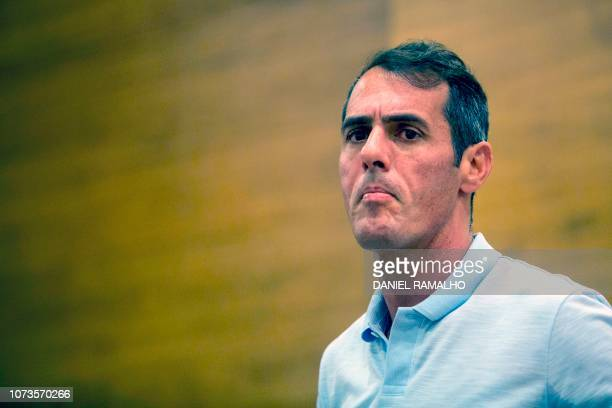 Councilor Marcello Siciliano gestures as he leaves after a press conference in Rio de Janeiro Brazil on December 15 2018 Siciliano declered on Friday...