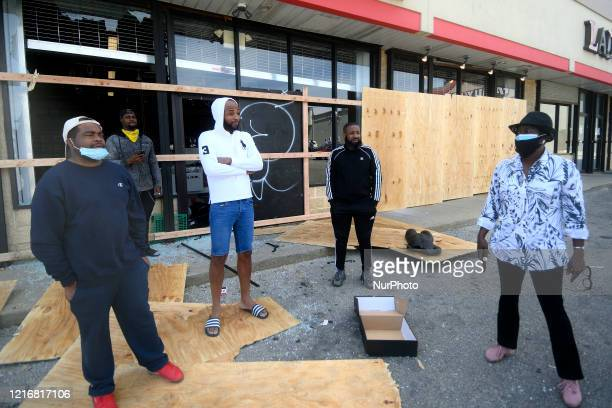 Councilwoman Cherelle Parker visits damaged and vandalized retail stores and talks to community members in the Mt Airy/Wadsworth section of Northwest...