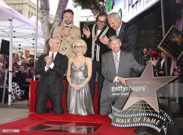 Councimember Mitch O'Farrel actor Joel McHale actress Gillian Anderson writer Bryan Fuller Hollywood Chamber of Commerce President and CEO Leron...