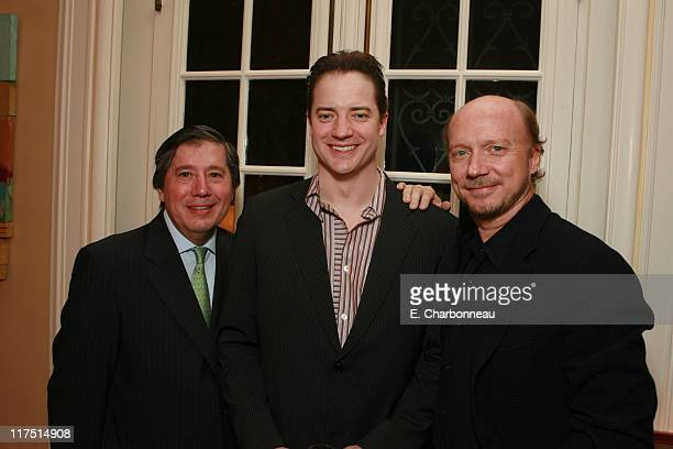 Counsel General Alain Dudoit Brendan Fraser and Paul Haggis*EXCLUSIVE*