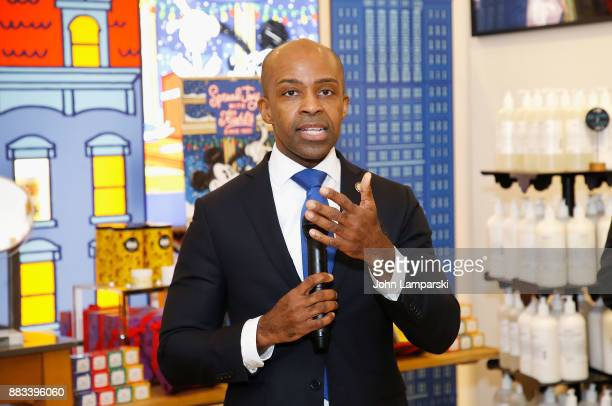 Counsel to the Governor of New York, Alphonso B. David attends The Bea Arthur Residence Building dedication on November 30, 2017 in New York City.