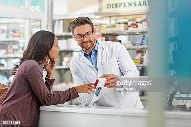Counseling his patient regarding appropriate use of medication