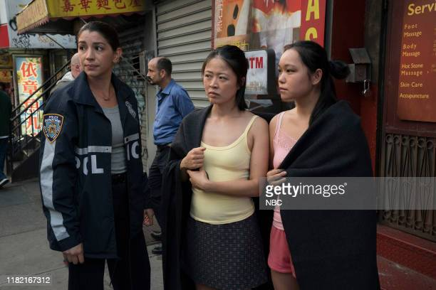 UNIT Counselor It's Chinatown Episode 21007 Pictured Jamie Gray Hyder as Officer Katriona Kat Azar Tamin Christine Chang as Lily Song