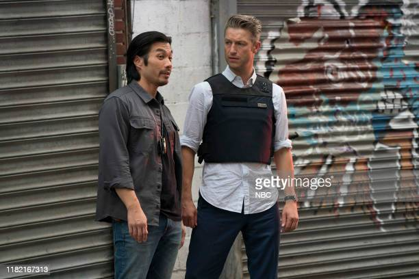 UNIT Counselor It's Chinatown Episode 21007 Pictured Nelson Lee as Sergeant Joe Park Peter Scanavino as Detective Sonny Carisi
