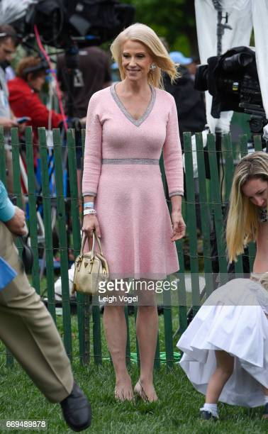 Counselor to the President Kellanne Conway attends the 139th White House Easter Egg Roll at The White House on April 17 2017 in Washington DC