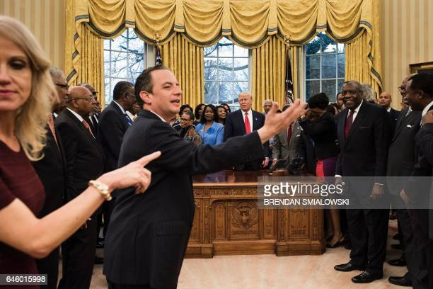 Counselor to the President Kellyanne Conway and White House Chief of Staff Reince Priebus direct leaders of historically black universities and...