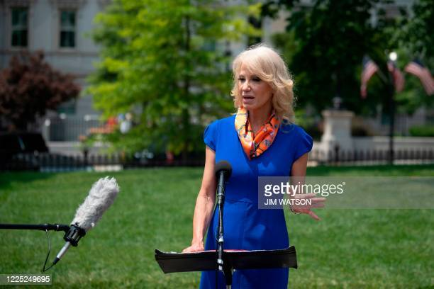 DC: Kellyanne Conway Speaks To Media Members Outside White House