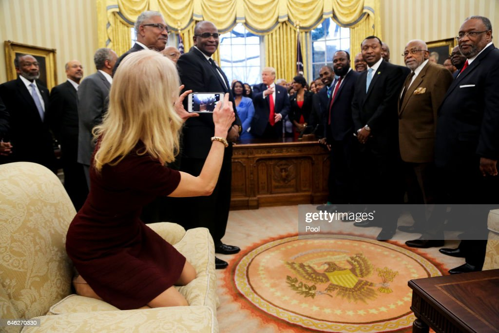 US President Donald Trump Meets With The Historically Black Colleges and Universities : News Photo