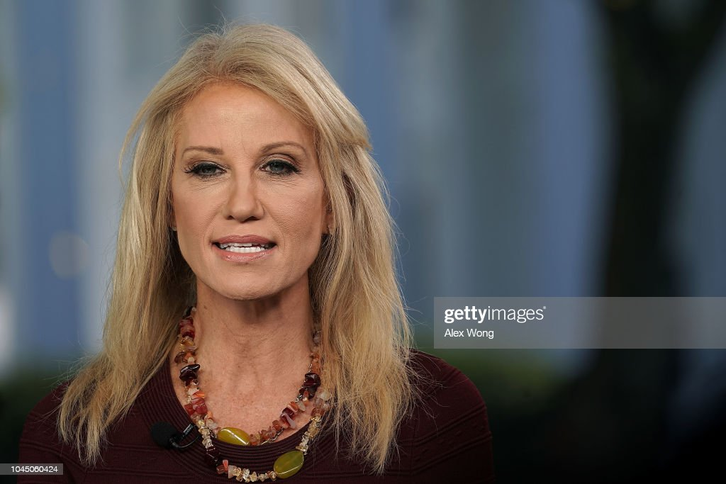 White House Adviser Kellyanne Conway Speaks To Media At The White House : News Photo