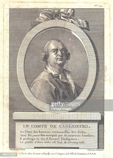Count Alessandro di Cagliostro 1781 From a private collection