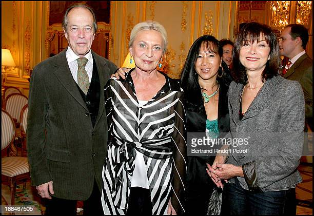 Count and Countess De Paris Mai Chen Chalais and Muriel Rose Private screening of the documentary Un Nom En Heritage at the Meurice Hotel in the hall...