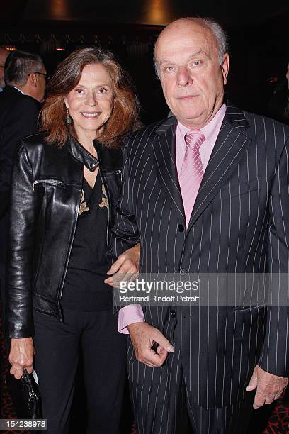 Count and Countess Jean de Rohan Chabot attend 'La Conversation' By Jean D'Ormesson at Theatre Hebertot on October 16, 2012 in Paris, France.
