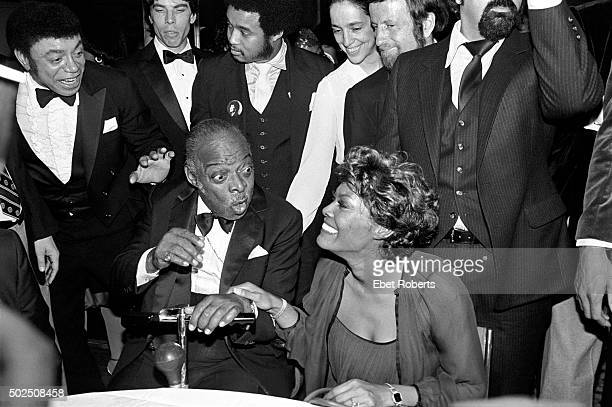 Count Basie and Dionne Warwick at an allstar tribute concert honoring Count Basie called 'To Basie With Love' at Radio City Music Hall in New York...