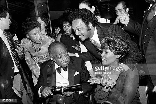 Count Basie with Jesse Jackson and Dionne Warwick at an allstar tribute concert honoring Count Basie called 'To Basie With Love' at Radio City Music...