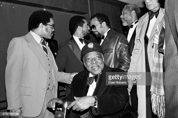 Count Basie with Jesse Jackson and others at an allstar tribute concert honouring Count Basie called 'To Basie With Love' at Radio City Music Hall in...