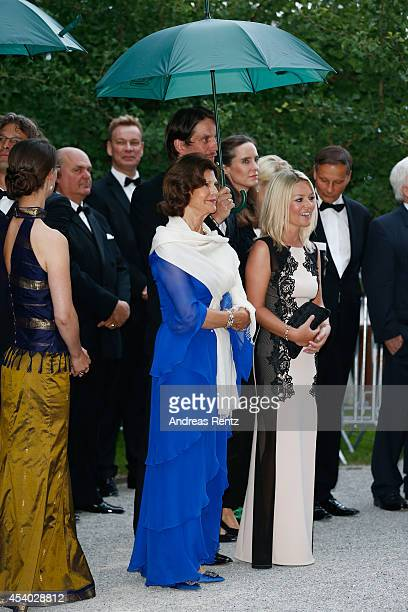 Count Bjoern Bernadotte HRH Queen Silvia of Sweden and Countess Sandra Bernadotte attend the 15th anniversary of World Childhood Foundation at Island...