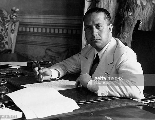 Count Galeazzo Ciano Mussolini's foreign minster and soninlaw at his desk in Palazzo Chigi Rome in 1937 | Location Palazzo Chigi Rome Italy