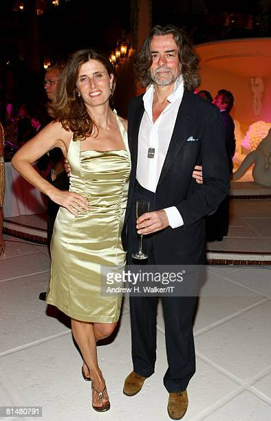 Count Gelasio Gaetani and guest attend the Drinks Dinner and Disco Party the night before the wedding of Ivana Trump and Rossano Rubicondi at the...