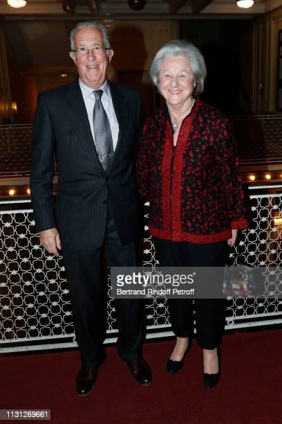 Count Guy de Brantes and his wife Countess Marina de Brantes attend the Fondation Prince Albert II De Monaco Evening at Salle Gaveau on February 21...
