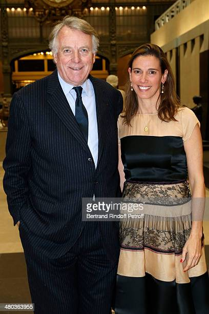 Count Jean de Iturbe and Carolina Ruiseco attend the dinner party of the Societe Des Amis Du Musee D'Orsay at Musee d'Orsay on March 24 2014 in Paris...