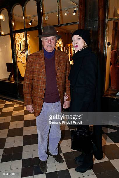 Count Jean de Rohan Chabot and Katinka de Montal attend Vincent Darre Exhibition opening at Galerie Pierre Passebon on March 19, 2013 in Paris,...