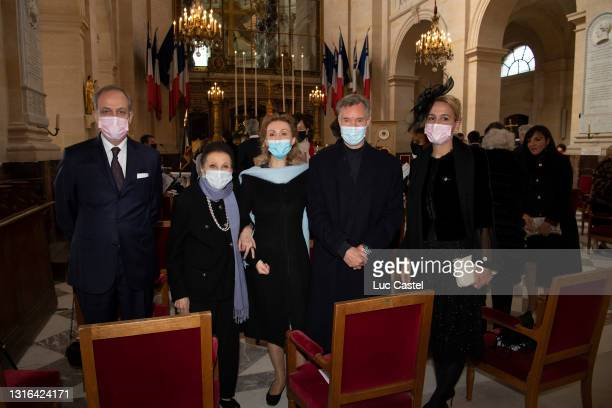 Count Jean d'Orléans, Duchess Sophie of Wurtemberg, Sibilla of Luxembourg, Prince Guillaume of Luxembourg and Philomena de Tornos y Steinhart attend...